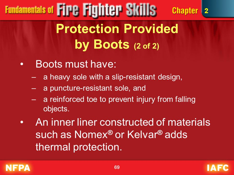 Protection Provided by Boots (2 of 2)