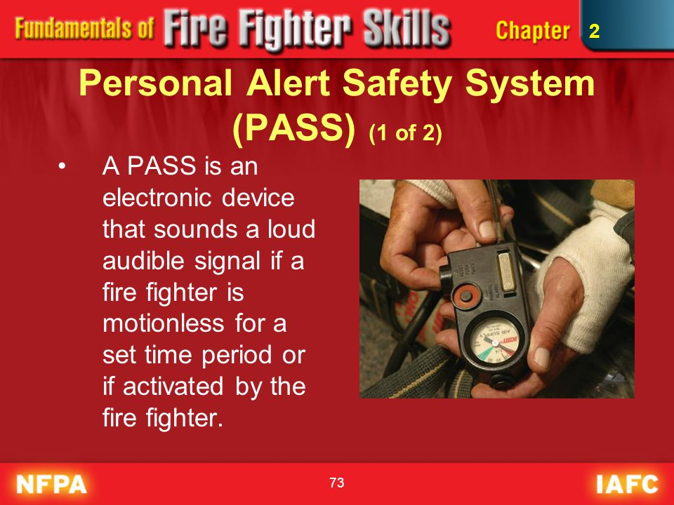 Personal Alert Safety System (PASS) (1 of 2)