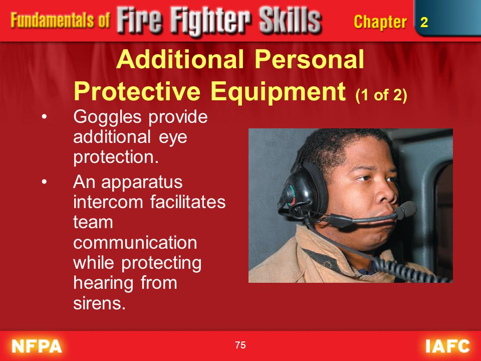 Additional Personal Protective Equipment (1 of 2)