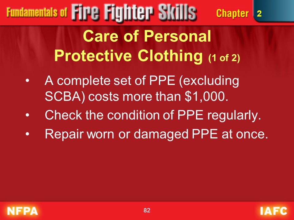 Care of Personal Protective Clothing (1 of 2)