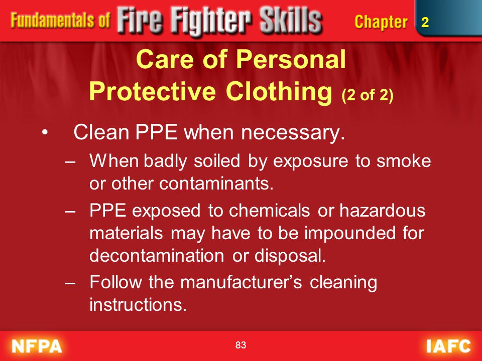 Care of Personal Protective Clothing (2 of 2)