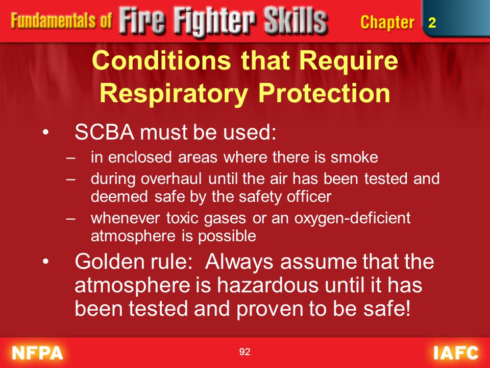 Conditions that Require Respiratory Protection