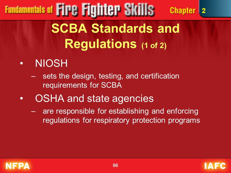 SCBA Standards and Regulations (1 of 2)
