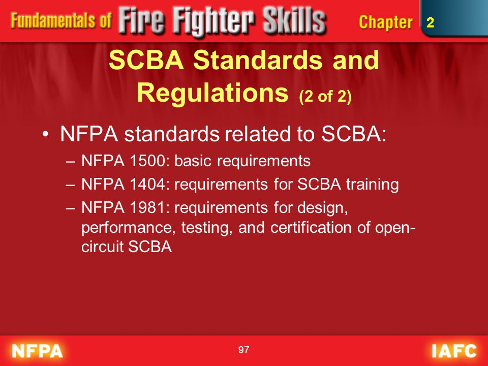 SCBA Standards and Regulations (2 of 2)