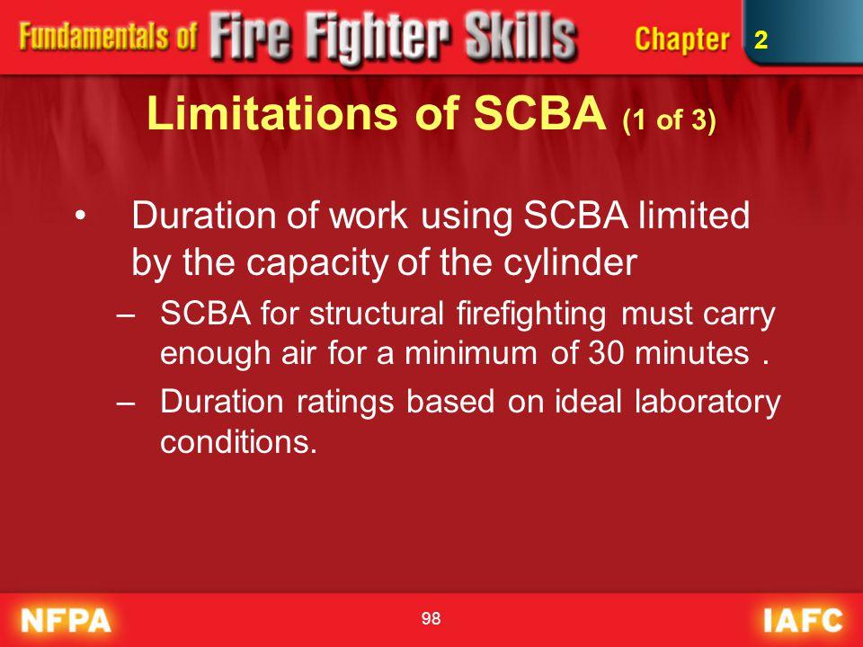 Limitations of SCBA (1 of 3)