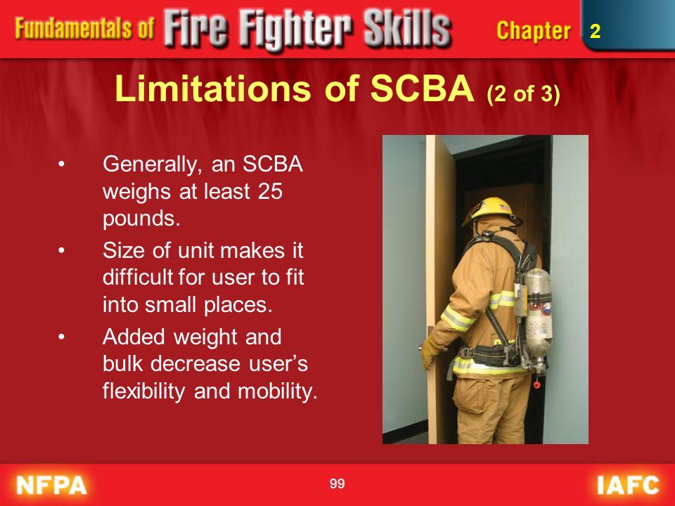 Limitations of SCBA (2 of 3)