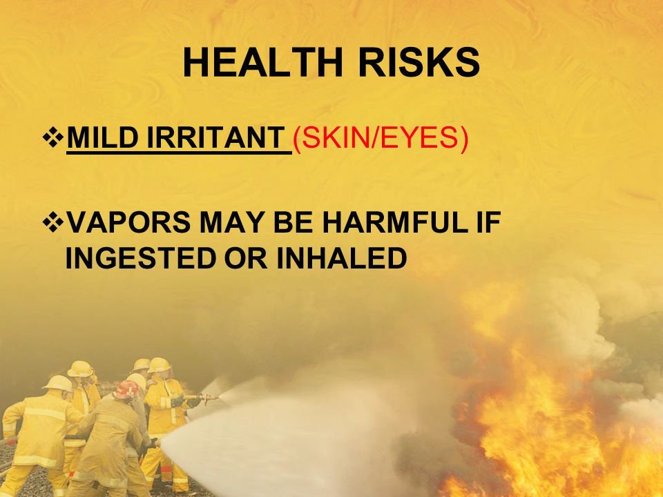 HEALTH RISKS MILD IRRITANT (SKIN/EYES)