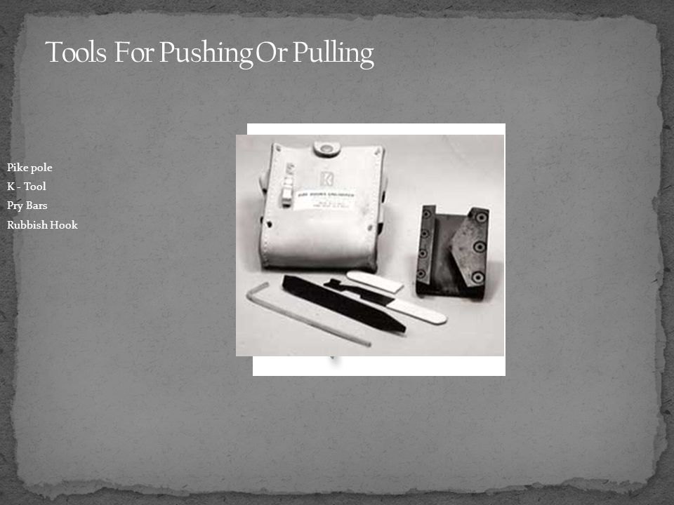 Tools For Pushing Or Pulling