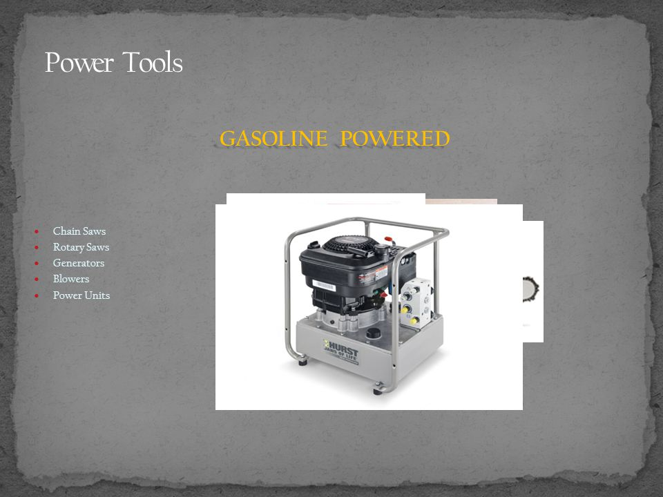 Chain Saws Rotary Saws Generators Blowers Power Units