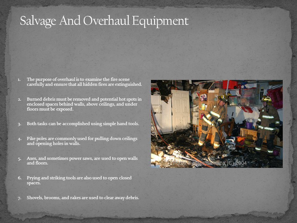 Salvage And Overhaul Equipment