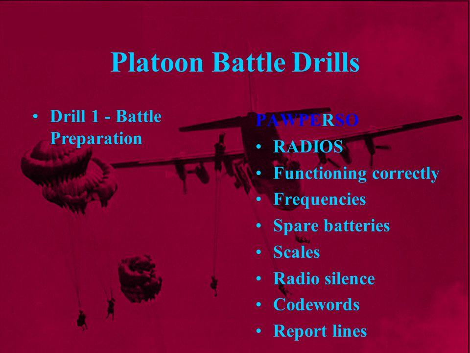 Platoon Battle Drills Drill 1 - Battle Preparation PAWPERSO RADIOS