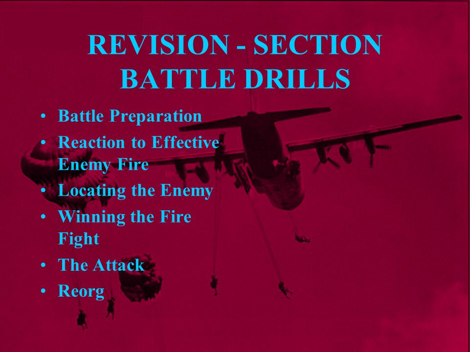 REVISION - SECTION BATTLE DRILLS