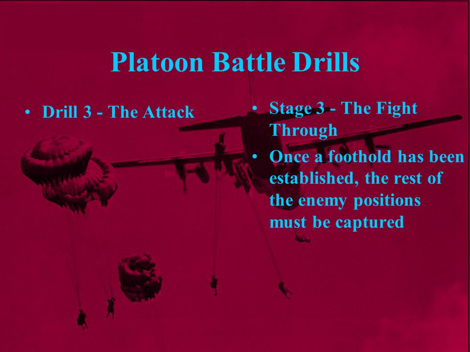 Platoon Battle Drills Stage 3 - The Fight Through Drill 3 - The Attack