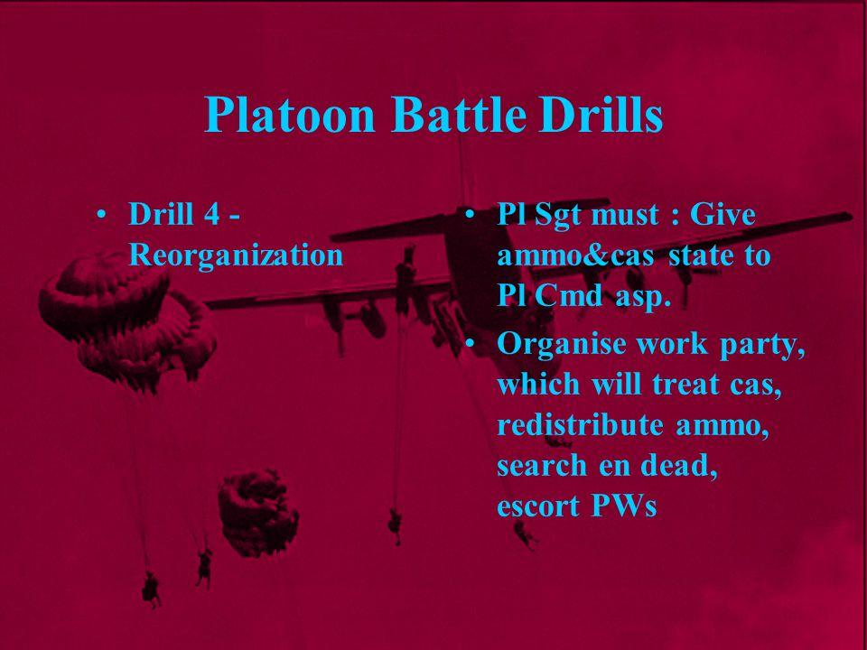 Platoon Battle Drills Drill 4 - Reorganization