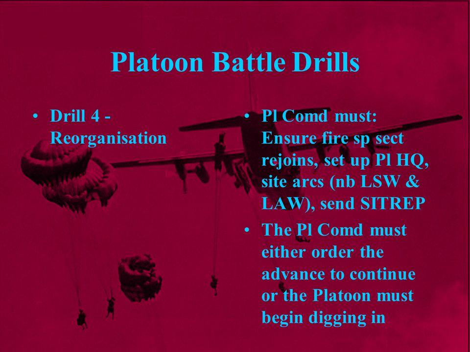 Platoon Battle Drills Drill 4 - Reorganisation