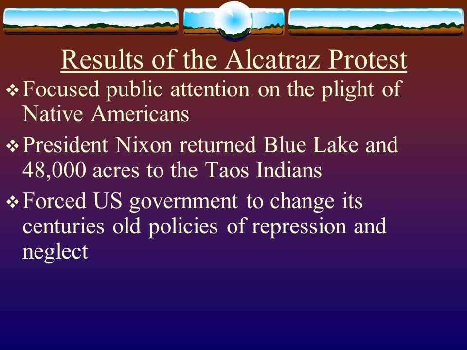 Results of the Alcatraz Protest