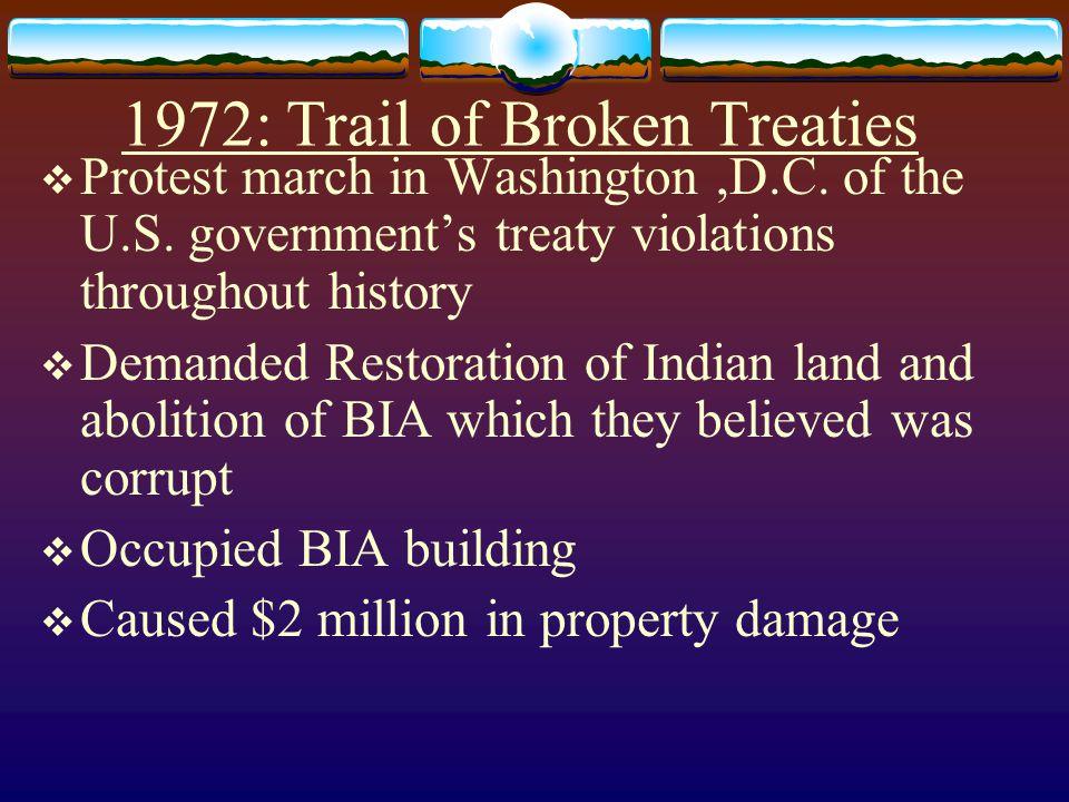 1972: Trail of Broken Treaties