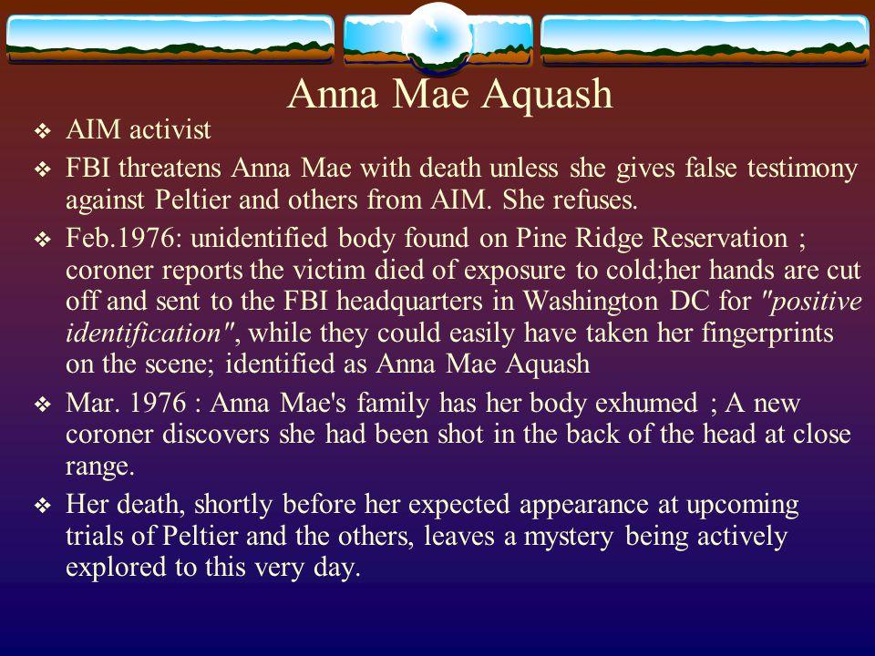 Anna Mae Aquash AIM activist