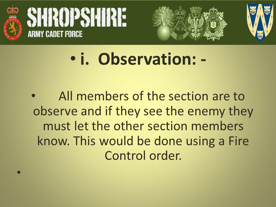 i. Observation: -
