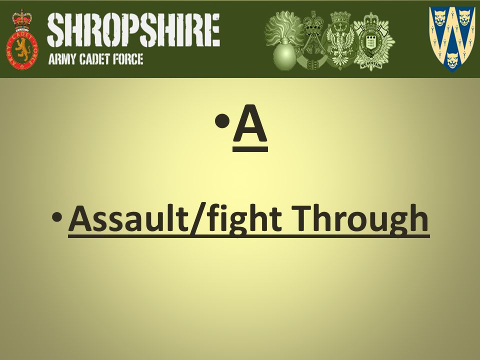 Assault/fight Through