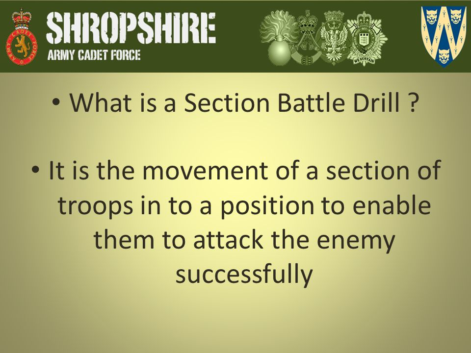What is a Section Battle Drill