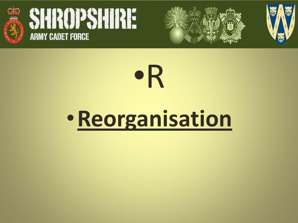 R Reorganisation
