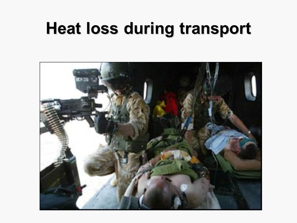 Heat loss during transport