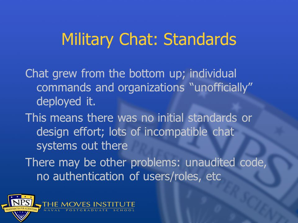 Military Chat: Standards