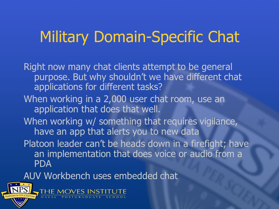 Military Domain-Specific Chat