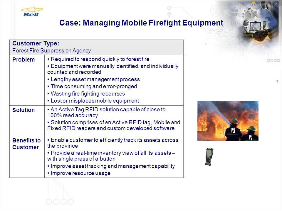 Case: Managing Mobile Firefight Equipment