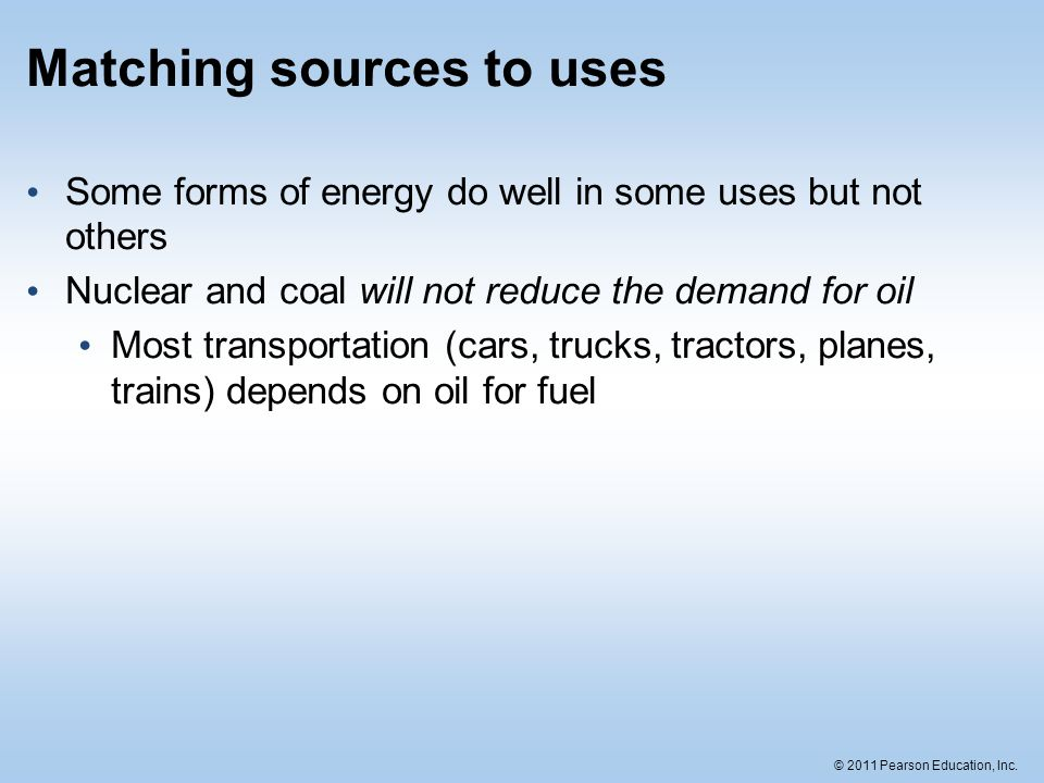 Matching sources to uses