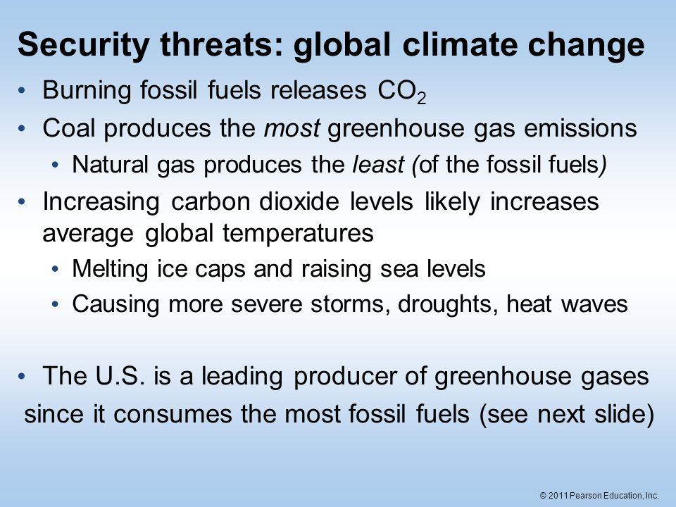 Security threats: global climate change