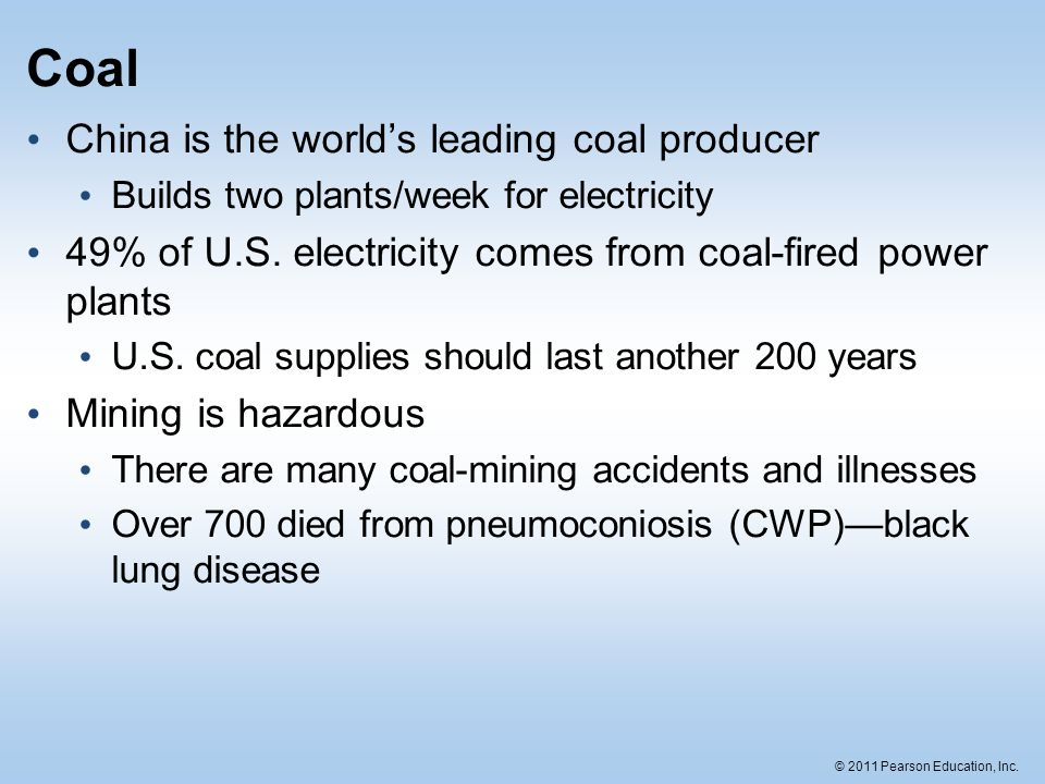 Coal China is the world's leading coal producer