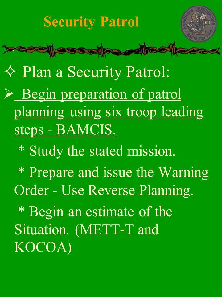Plan a Security Patrol: