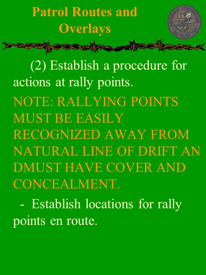 Patrol Routes and Overlays