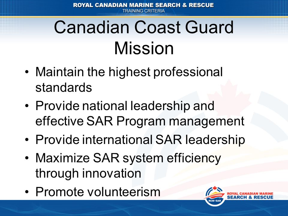 Canadian Coast Guard Mission