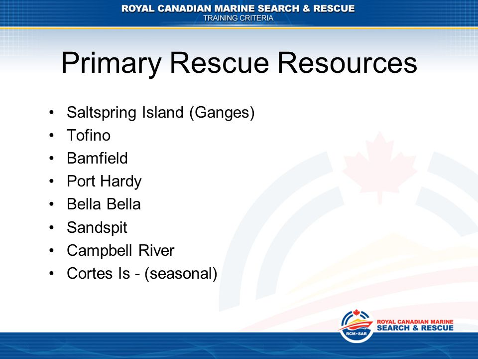 Primary Rescue Resources