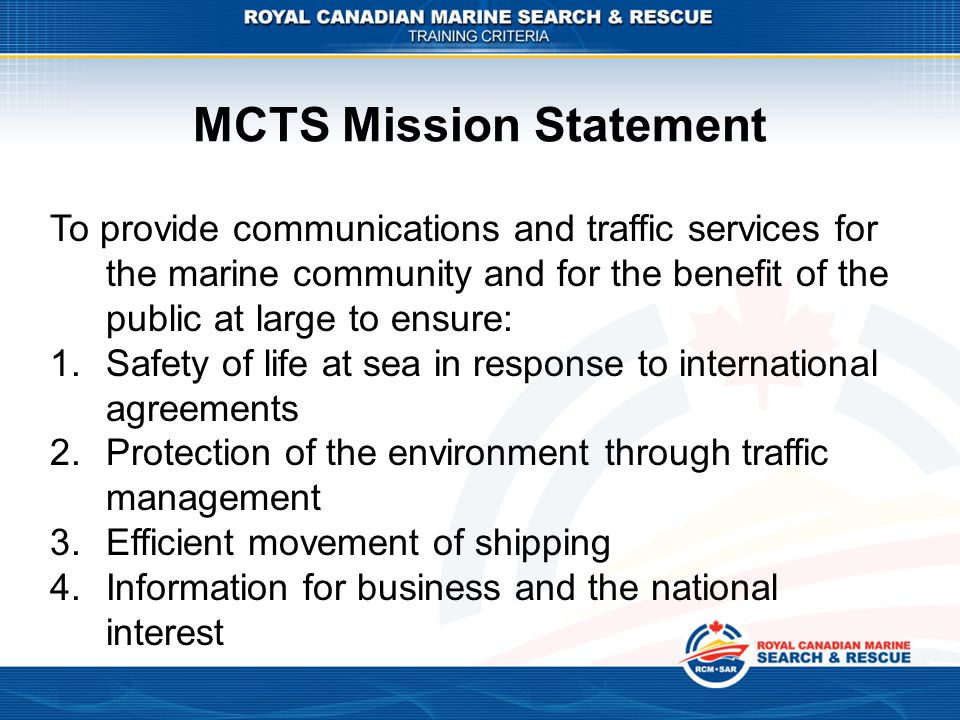 MCTS Mission Statement