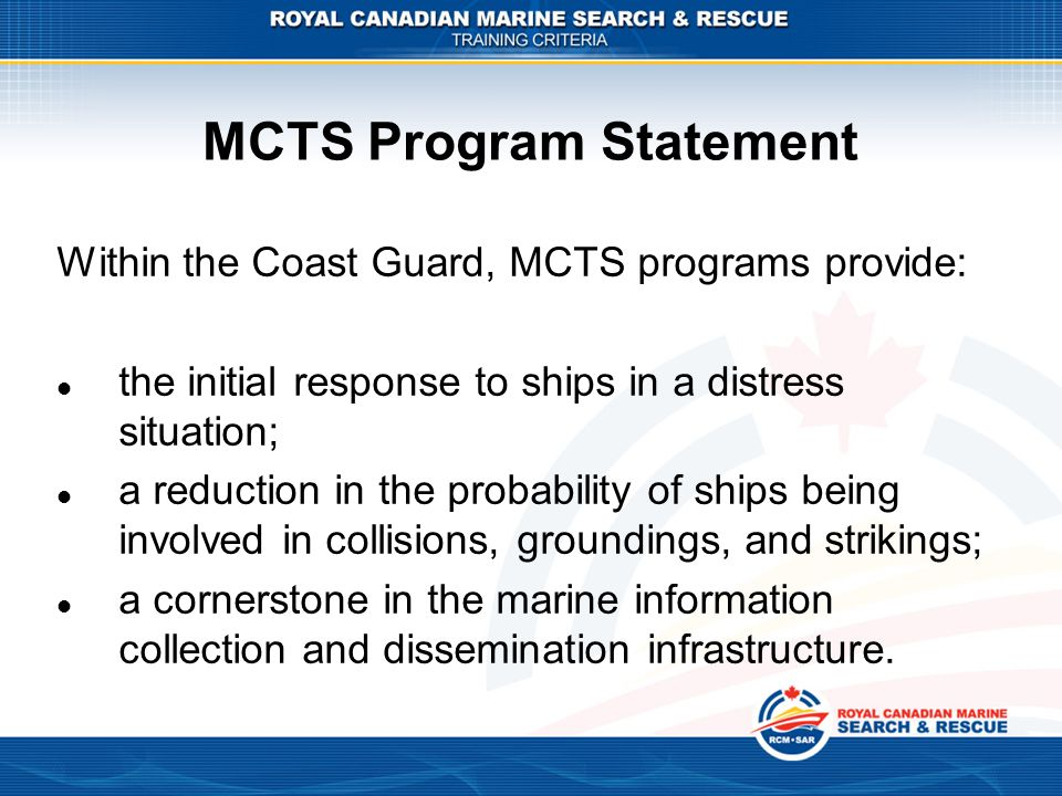MCTS Program Statement