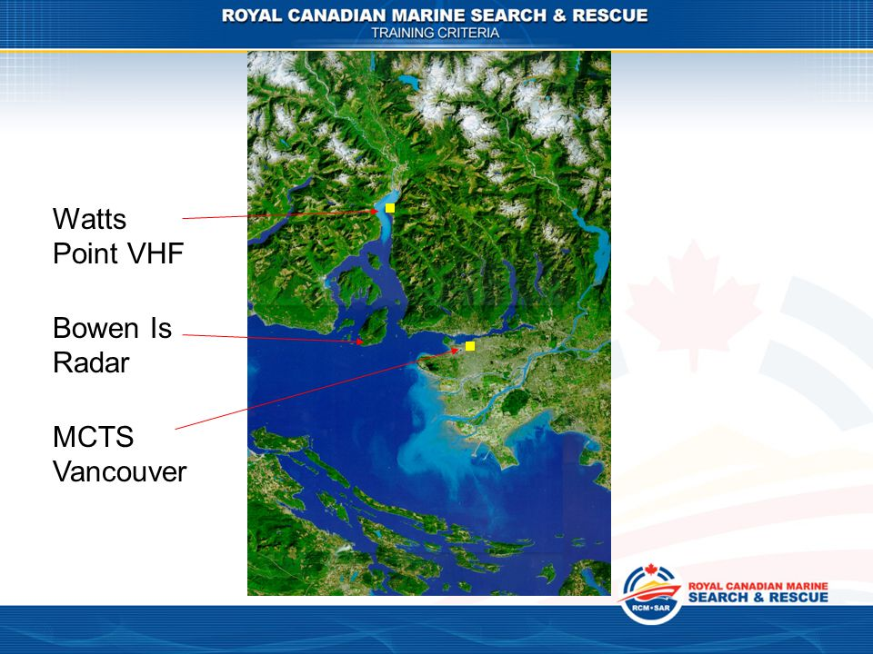 Watts Point VHF Bowen Is Radar MCTS Vancouver