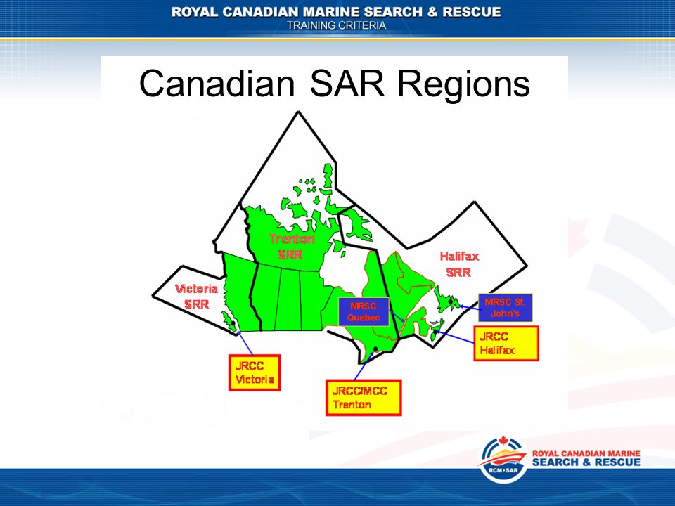 Canadian SAR Regions