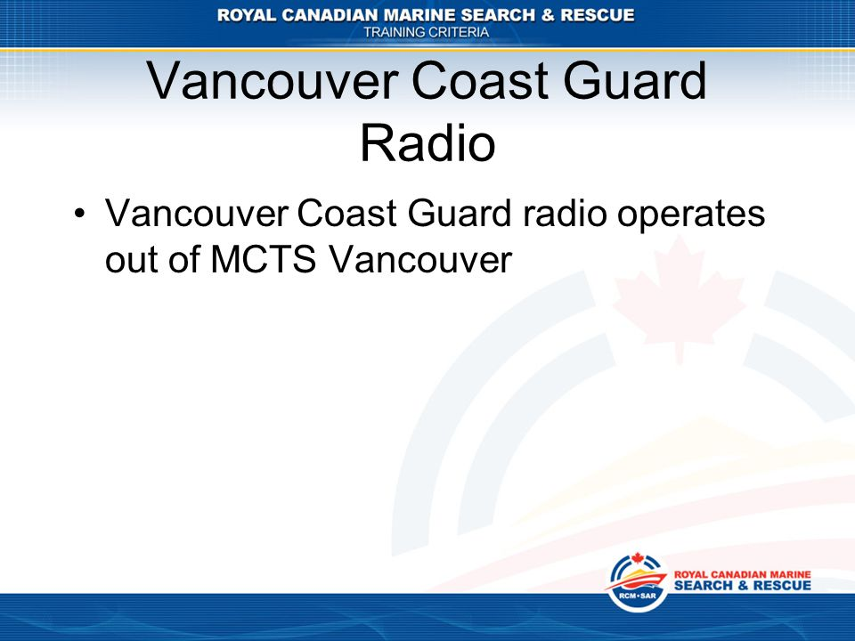 Vancouver Coast Guard Radio