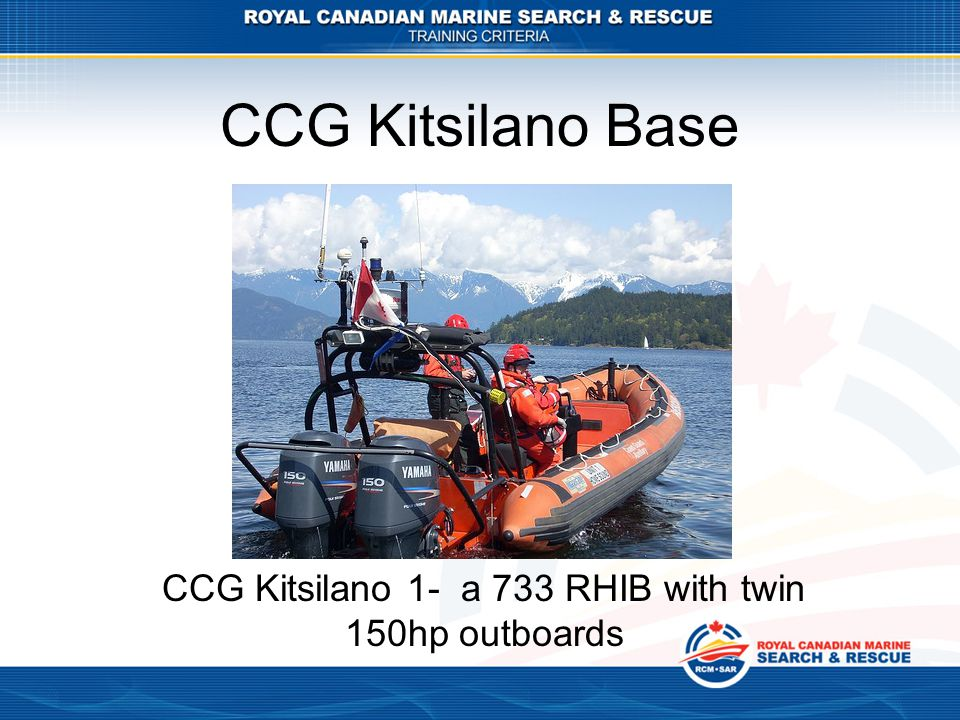 CCG Kitsilano 1- a 733 RHIB with twin 150hp outboards
