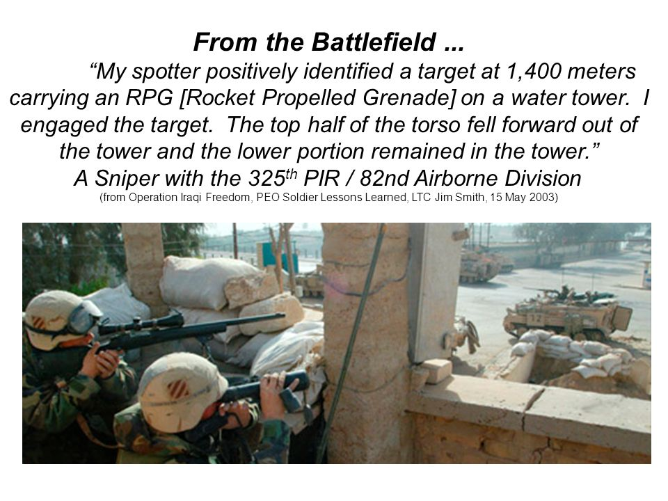 From the Battlefield ...