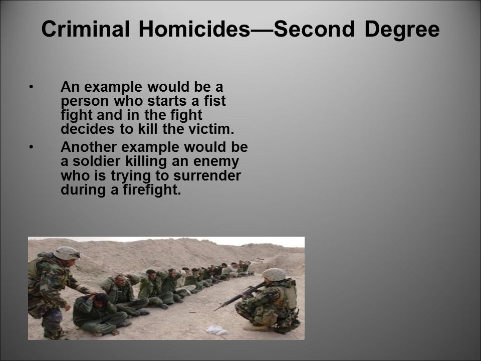 Criminal Homicides—Second Degree