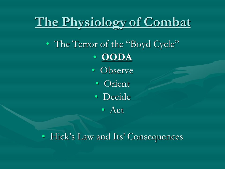 The Physiology of Combat