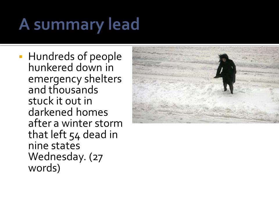 A summary lead