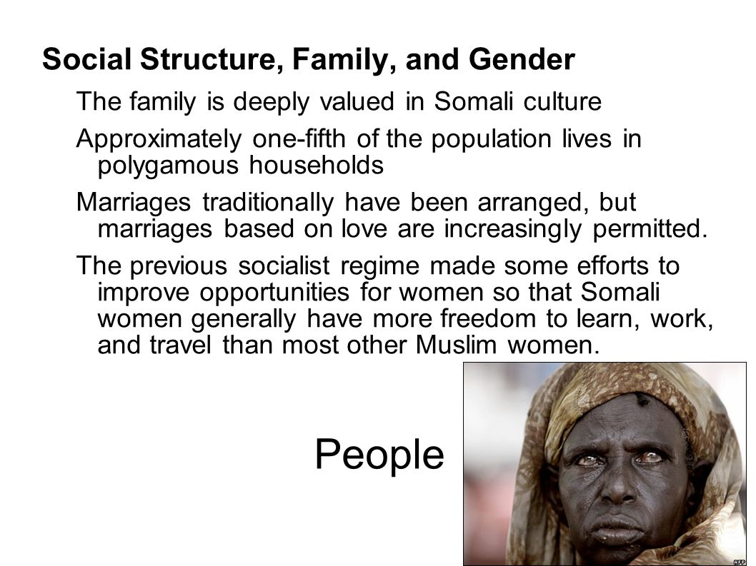 People Social Structure, Family, and Gender