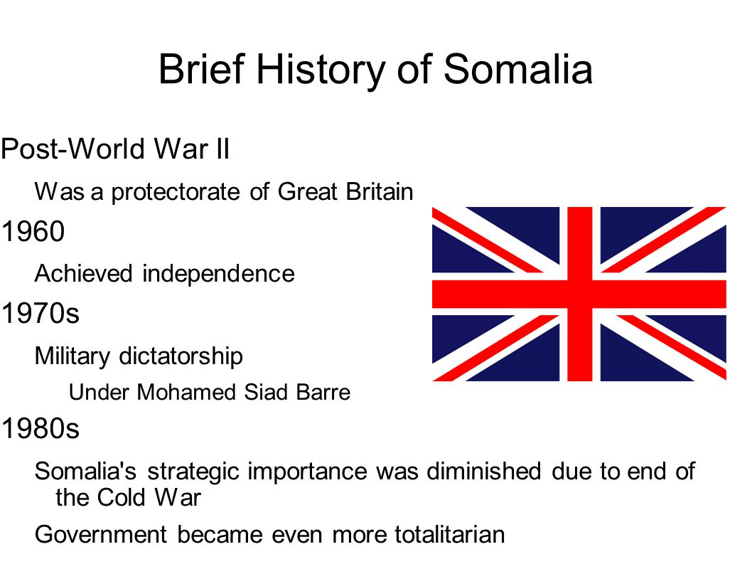 Brief History of Somalia