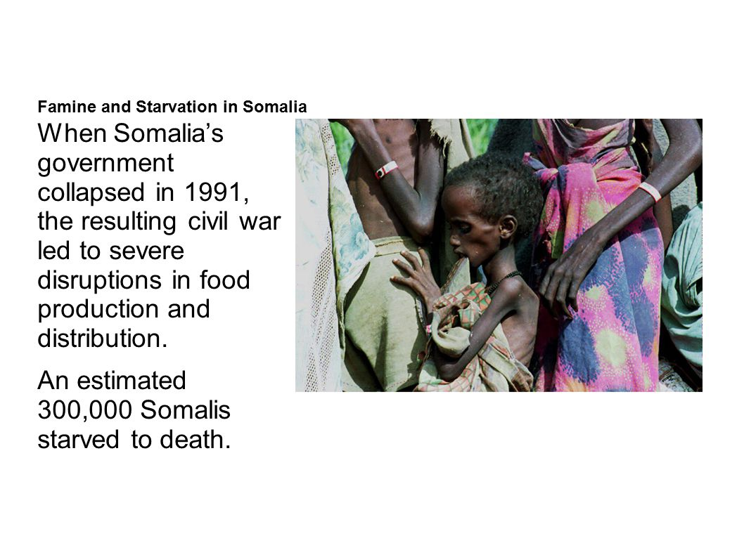 Famine and Starvation in Somalia